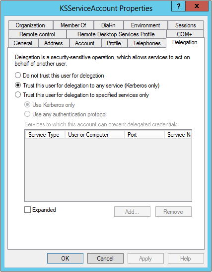 Sassafras Help — Active Directory Integration