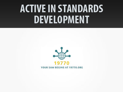 Active in Standards Development such as ISO/IEC 19770-2 and ISO/IEC 19770-3