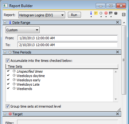 Report Builder with Time Sets