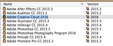 New product definitions for Adobe Creative Cloud 2016