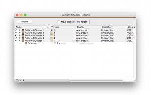 Piriform's CCleaner 5.x variant, listed in K2 PRS (Product Recognition Service).