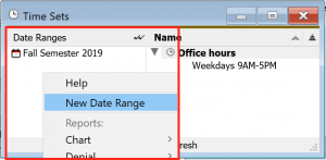 Custom Date Ranges