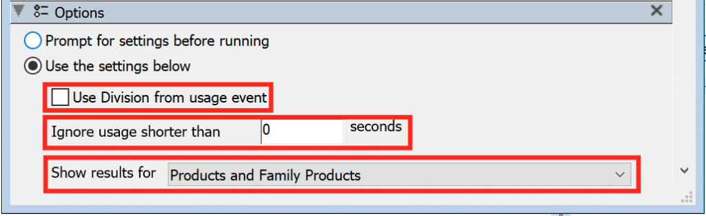 Division Even, Short Usage Family Reports