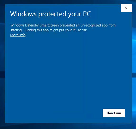 Windows dialog