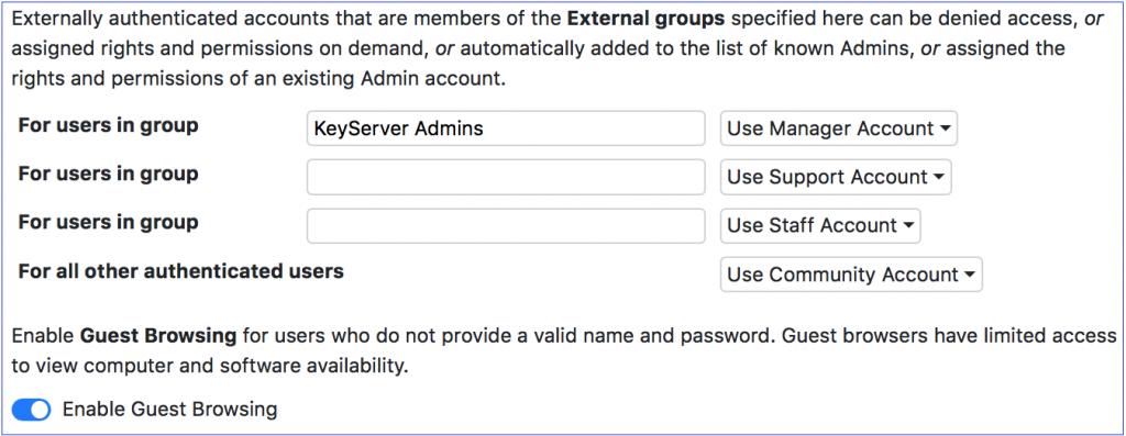 External Accounts
