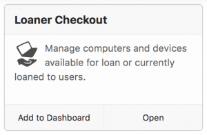 loaner checkout extra